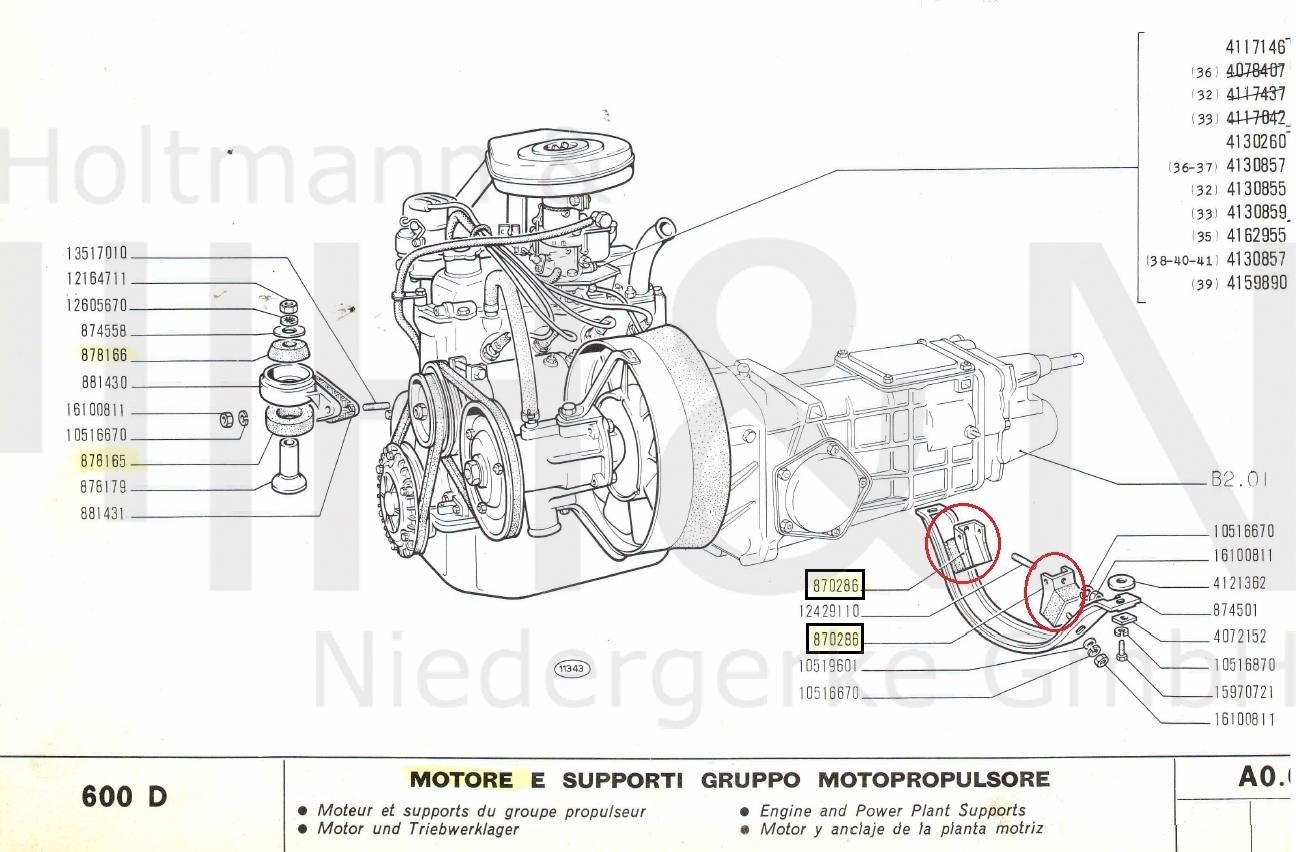 Prime Transmission Mounts Pair Fiat 600 D E Std Quality Wiring Cloud Nuvitbieswglorg